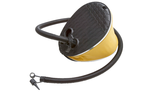 Quickly inflate your pontoon, float tube or U-boat quickly with an air pump from Michael & Young.