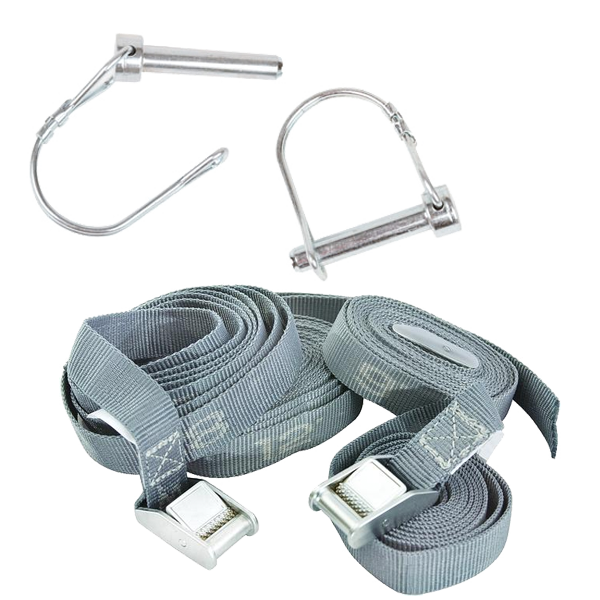 Look to further for fishing pontoon boat and U-boat replacement parts such as spring clips, oars and cam straps.
