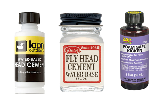 Cements and wax are necessary tools for fly tying. Water-based, contains no toluene and is perfect when tying with synthetics.