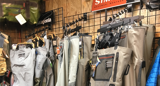 With the complete selection of both Simms & Patagonia under one roof, why go anywhere else?