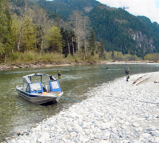 On The Water Salmon Pitt River <P>