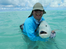 <p>This is a week of flyfishing in Kiritimati, a tiny coral atoll in the middle of the South Pacific Ocean with a incredible series of flats filled with bonefish, GT, other trevally, triggerfish and many other awesome fish. It is a sight fishing mecca! The cost is <strong>$2990.00 (USD)</strong> per angler, which includes lodging (2 per room), food, and guiding. It does not include flights, gratuities, or alcohol.</p>